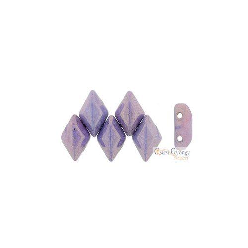 Luster Opaque Amethyst Chalk - 5 g - Gemduo gyöngy 5x8 mm