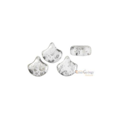 Silver Splash White - 10 db - Ginkgo Leaf 7.5x7.5 mm (S23C03000)