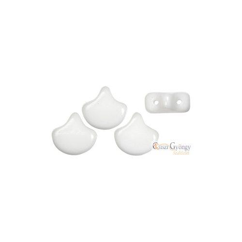 White - 10 db - Ginkgo Leaf 7.5x7.5mm (03000)