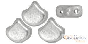 Matte Metallic Silver - 10 db - Ginkgo Leaf gyöngy 7.5x7.5 mm (K0170)