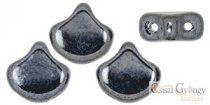 Hematite - 10 pcs. - Ginkgo Leaf Beads 7.5x7.5mm (L23980)