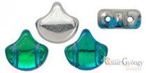 Backlit Aquamarine - 10 pcs - Ginkgo Leaf Beads 7.5x7.5mm (S11C60020)
