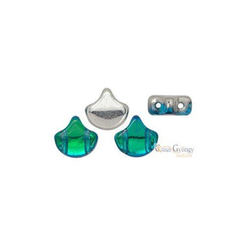Backlit Aquamarine - 10 db - Ginkgo Leaf gyöngy 7.5x7.5mm (S11C60020)