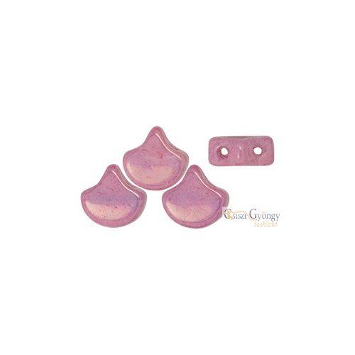 Luster Metallic Pink - 10 db - Ginkgo Leaf gyöngy 7.5x7.5mm (14494WH)
