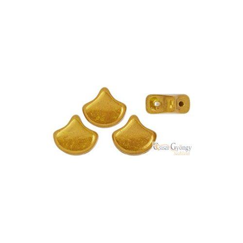 Luster Metallic Lemon - 10 db - Ginkgo Leaf gyöngy 7.5x7.5mm (LK83120)