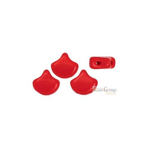 Opaque Red - 10 db - Ginkgo Leaf gyöngy 7.5x7.5mm (93200)