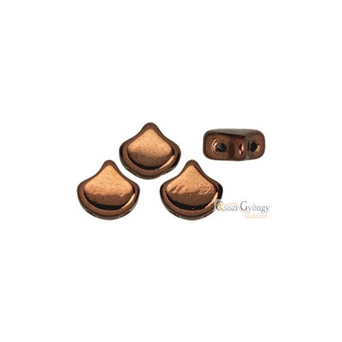 Bronze - 10 db - Ginkgo Leaf gyöngy 7.5x7.5mm, (LZ23980)