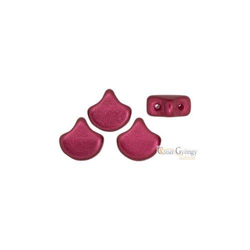 Powdery Red - 10 db - Ginkgo Leaf gyöngy 7.5x7.5mm (29717AL)