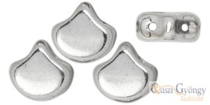 Silver - 10 db - Ginkgo Leaf gyöngy 7.5x7.5mm (27000CR)