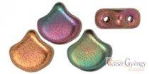 Matte Metallic Bronze Iris - 10 dbpcs. - Ginkgo Leaf Beads, 7.5x7.5mm (K0164)