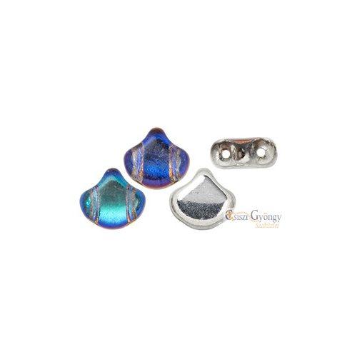 Backlit Petroleum - 10 db - Ginkgo Leaf gyöngy, 7.5x7.5mm (S11C26601)