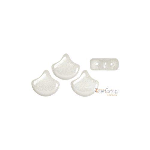 Luster Opaque White - 10 db - Ginkgo Leaf gyöngy 7.5x7.5 mm