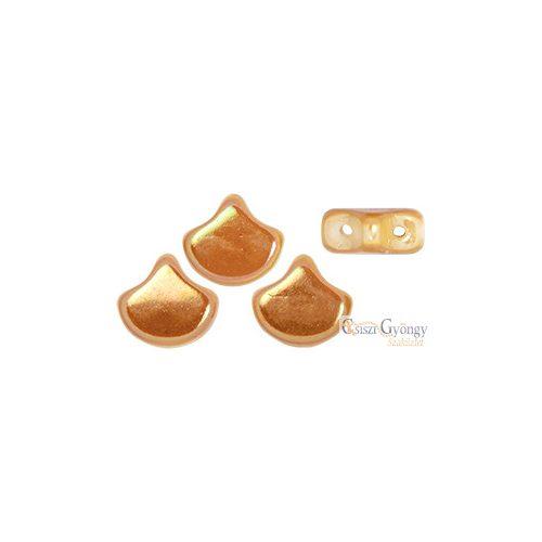 White Apricot - 10 db - Ginkgo Leaf gyöngy 7.5x7.5mm