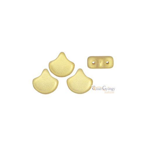 Chatoyant Lt. Gold - 10 db - Ginkgo Leaf gyöngy 7.5x7.5mm