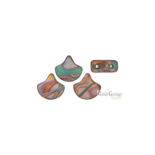 Apollo Turquoise - 10 db - Ginkgo Leaf gyöngy 7.5x7.5 mm