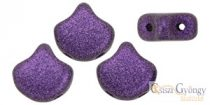 Metallic Suede Purple - 10 Stk. - Ginkgo Leaf Beads (79021MJT)