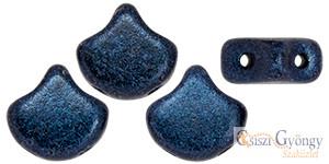 Metallic Suede Dark Blue - 10 db - Ginkgo Leaf gyöngy 7.5x7.5 mm