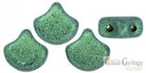 Metallic Suede Lt. Green - 10 pcs. - Ginkgo Leaf 7.5x7.5 mm