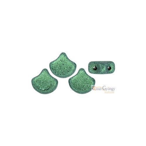 Metallic Suede Lt. Green - 10 db - Ginkgo Leaf 7.5x7.5 mm