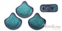 Polycrome Indigo Orchid - 10 pcs - Ginkgo Leaf Beads 7.5x7.5mm