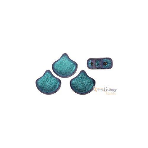 Polycrome Indigo Orchid - 10 db - Ginkgo Leaf gyöngy 7.5x7.5mm