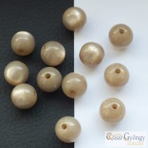 Pearl Shine Taupe - 1 pcs. - 10 mm Polaris Round Bead (36255)