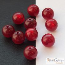 Pearl Shine Red - 1 pcs. - 10 mm Polaris Round Bead (63646)