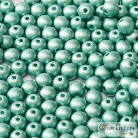 Matte Met. Turquoise Green - 50 db - 3 mm golyó gyöngy (29455)