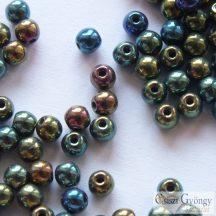Iris Green - 50 db - 3 mm golyó gyöngy (21455)