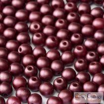 Pastel Burgundy - 50 db - 3 mm üveg, golyó gyöngy (25031)