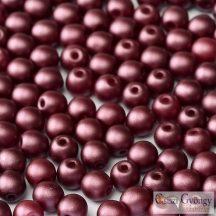 Pastel Burgundy - 50 db - 3 mm golyó gyöngy (25031)