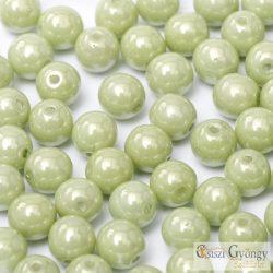 Lüszter almazöld - 50 db - golyó gyöngy, 3 mm (14457)