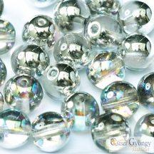 Crystal Silver Rainbow - 50 db- 3 mm cseh, golyó gyöngy (98530)