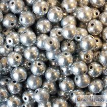 Ezüst színű - 50 db - 3 mm üveg, golyó gyöngy (27000)