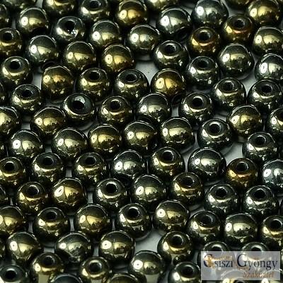 Iris Brown - 50 db - golyó gyöngy 3 mm (21415)