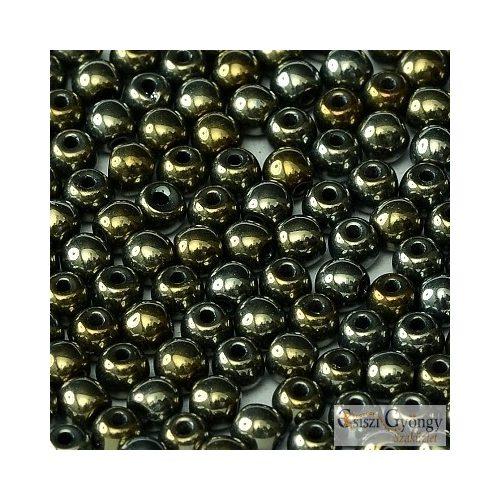 Iris Brown - 50 db - 3 mm üveg, golyó gyöngy (21415)