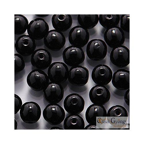 Opaque Black - 50 db - 3 mm üveg, golyó gyöngy
