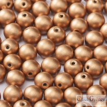 Matte Metallic Vitrage Copper - 50 pcs. - 3 mm Round Beads