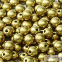 Matte Met. Olivine - 50 Stk. - Runde Perlen 3 mm (29418)