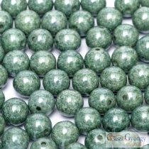 Luster Moss Green - 40 db - golyó gyöngy 4 mm (14459)
