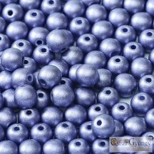 Matte Met. Sapphire - 40 db - 4 mm golyó gyöngy (29425)