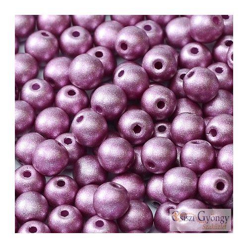 Matte met. Viola - 40 db - 4 mm golyó gyöngy (29428)