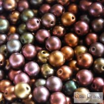 Matte Met. Purple Iris - 40 pc. - 4 mm Round Beads (01640)