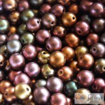 Matte Met. Purple Iris - 40 db - 4 mm golyó gyöngy (01640)