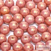 Luster Salmon - 40 pc. - 4 mm round beads (14495)