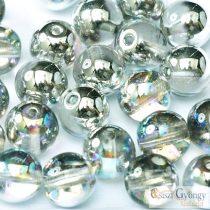 Crystal Silver Rainbow - 40 Stück - 4 mm Tschechische Runde Perlen (98530)