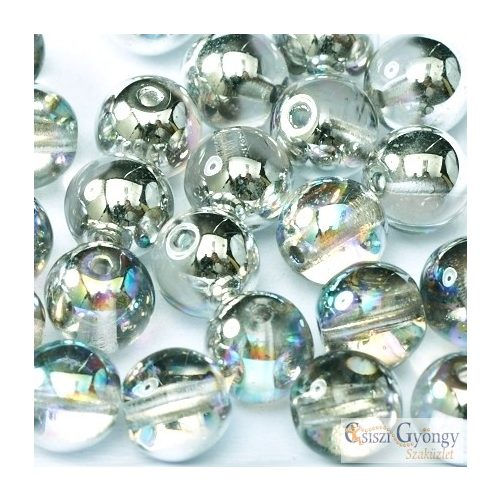 Crystal Silver Rainbow - 40 db - 4 mm cseh golyó gyöngy (98530)
