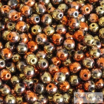 Gold Rush - 40 db - 4 mm golyó gyöngy