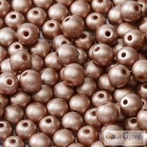 Matte Met. Cappuccino - 40 pc. - 4 mm round beads (29487)