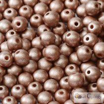 Matte Met. Cappuccino - 40 db - golyó gyöngy 4 mm (29487)